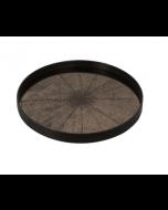 Plateau Miroir Design Ø 61 cm - Notre Monde-Bronze Slice