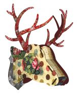Decoration murale trophee BIG DEER Dots his majesty - Miho