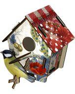 Decoration murale trophee BIRD HOUSE Poppy Seed  Miho