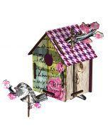Decoration murale trophé maison oiseau ROMANTIC RESORT Miho
