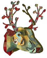 Decoration murale tête de cerf Foliage Miho