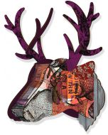 Decoration murale tête de cerf Purple branch Miho