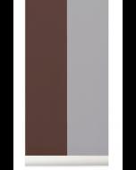 Papier peint Thick Lines - Ferm Living-Bordeaux/Gris