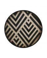 Plateau en bois collection Urban Geometry Ø 48 cm - Notre Monde - Graphite Chevron