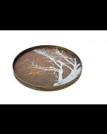 Plateau en bois flotté Design Ø 61 cm - Notre Monde-White Tree