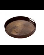 Plateau Miroir Design Ø 48 cm - Notre Monde-Heavy Aged Bronze