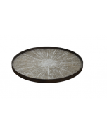 Plateau en bois flotté Design Ø 92 cm - Notre Monde-White Slice