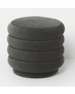 Pouf Round small-Ferm living-Gris