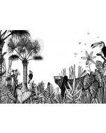 Papier peint panoramique The Wild - Bien Fait-Large L 4,57 m x H 2,80 (pack de 5 lés de 0,91 m x 2,80 m)