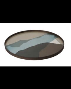 Plateau en Verre Design Ø 92 cm - Notre Monde
