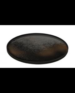 Plateau Miroir Design Ø 92 cm - Notre Monde-Heavy Aged Bronze