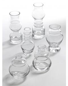 Collection de 6 soliflores en verre Serax