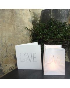 Carte cadeau LOVE - carte + photophore - Tindra