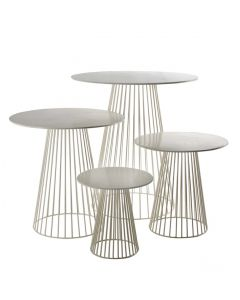 Collection de tables bistrot Antonino blanc/gris - Serax