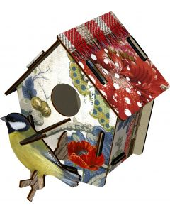 Decoration murale trophee BIRD HOUSE Poppy Seed  Miho