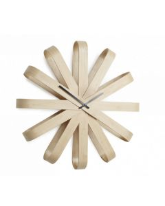 Horloge Ribbonwood hêtre naturel - Umbra