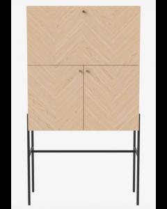Meuble de Bar Luxe en chêne huilé blanchi - Bolia