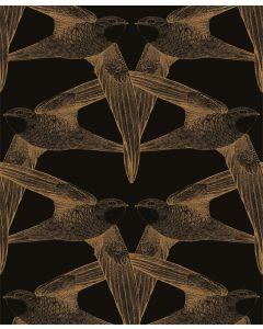 Papier peint panoramique Black Birds - Bien Fait