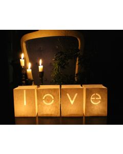 Photophore lettres LOVE - Tindra - set de 4