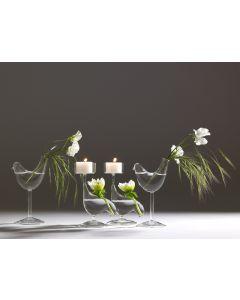 Soliflores et photophores - collection oiseaux en verre soufflé - Serax