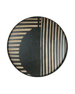 Plateau en bois collection Urban Geometry Ø 92 cm - Notre Monde - Asymetric Dot
