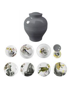 Service de table empilable Yuan gris - Ibride
