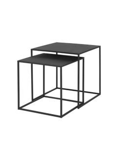 Table gigogne Fera noir - set de 2 tables - Blomus