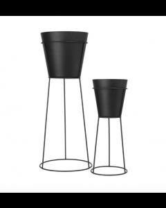 Set 2 pots de fleurs avec haut support Nidéa - Blomus