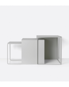 Table gigogne Cluster Grey - set de 3 tables - Ferm Living