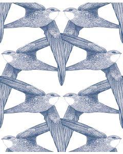 Papier peint panoramique White Birds - Bien Fait