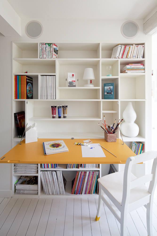 Bibliothèque avec secrétaire look contemporain