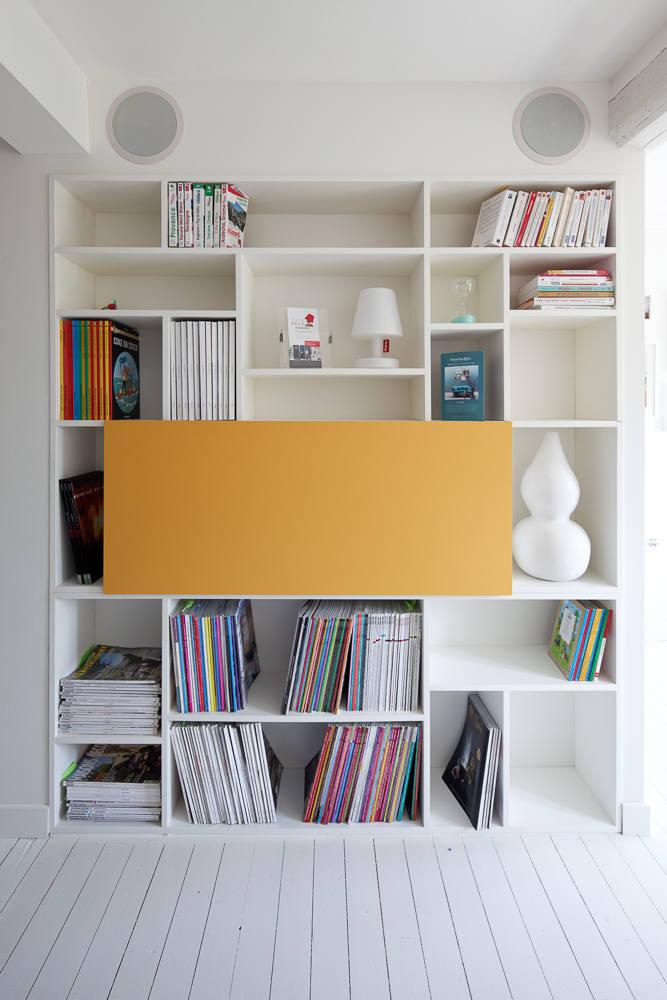 Création mobilier - Bibliothèque secrétaire 1
