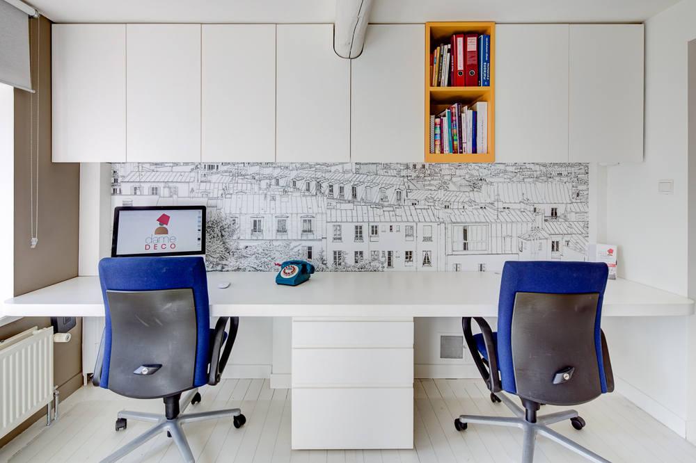 Création mobilier - bureaux intégrés contemporain 1