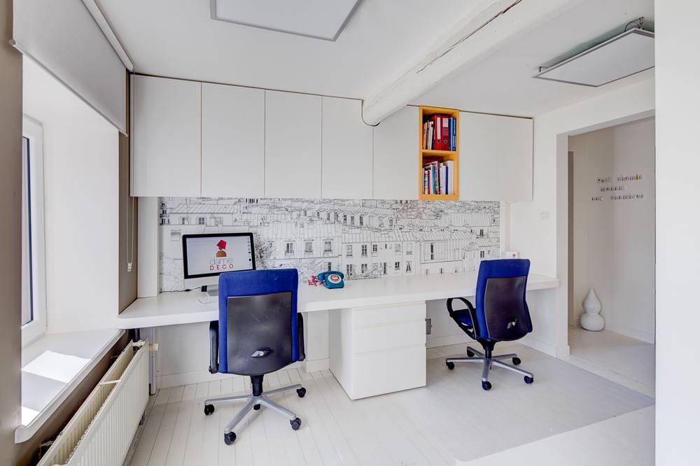 Création mobilier - bureaux intégrés contemporain 2