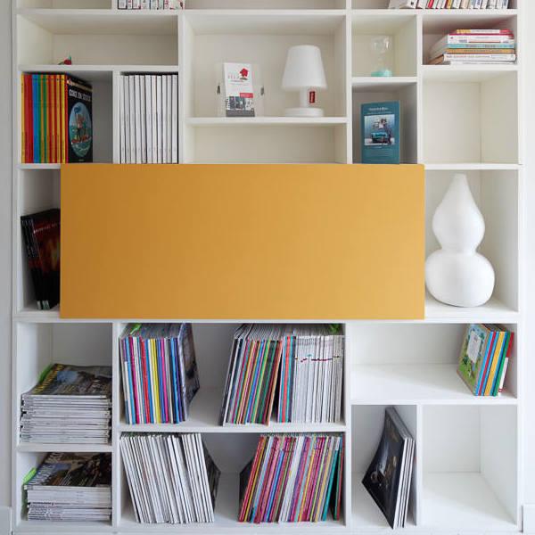 Création mobilier - Bibliothèque secrétaire