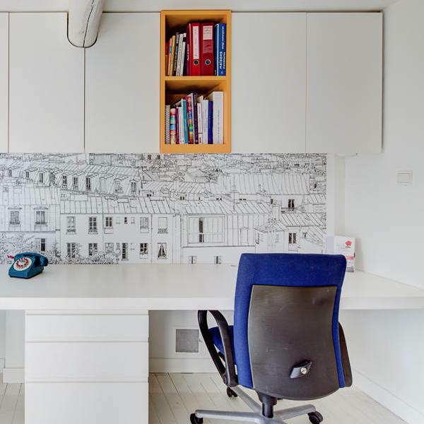 Création mobilier - bureaux intégrés contemporain